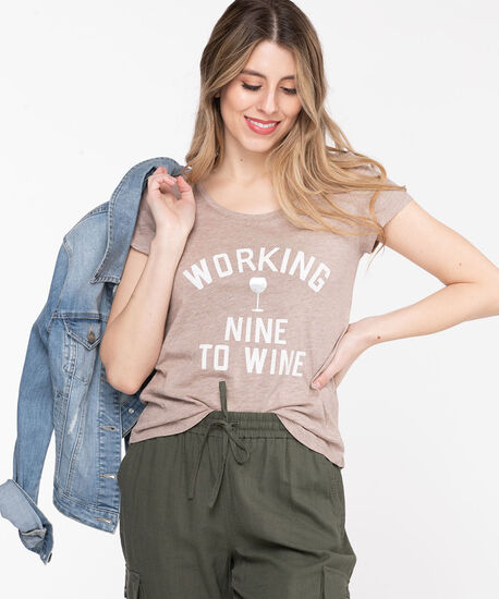 Scoop Neck Embroidered Graphic Tee, Nomad/9-to-Wine, hi-res