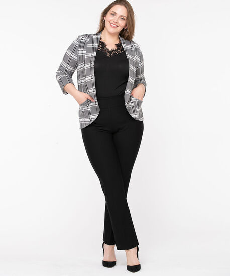 Terry Shawl Collar Cover Up, Black/Pearl, hi-res