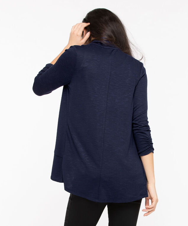 Shawl Collar Cardigan, Summer Navy, hi-res
