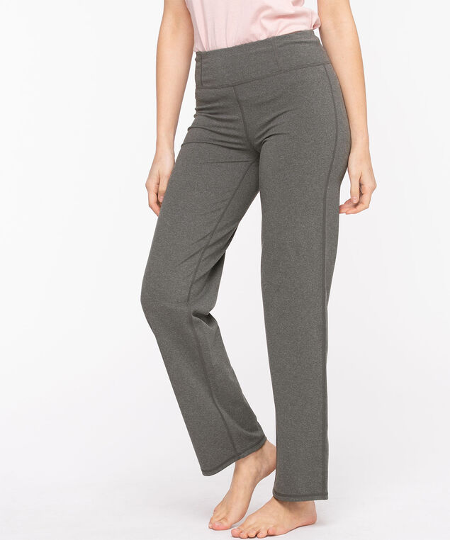 Straight Leg Yoga Pant, Grey