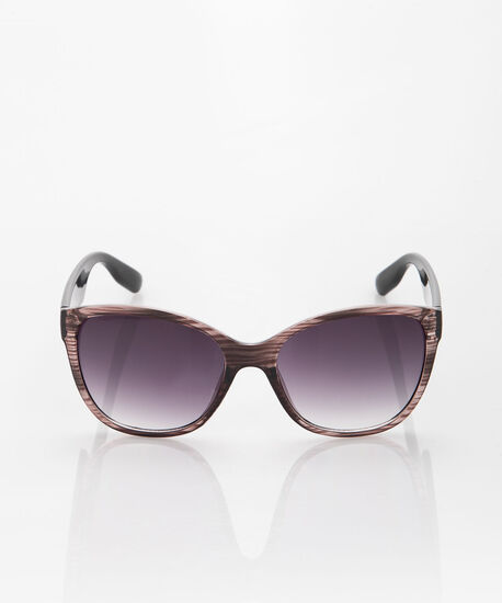 Translucent Woodgrain Sunglasses, Black/Brown, hi-res