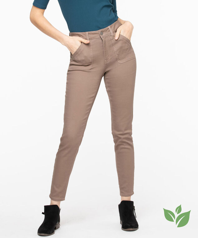 Eco Friendly Utility Jegging, Taupe Grey
