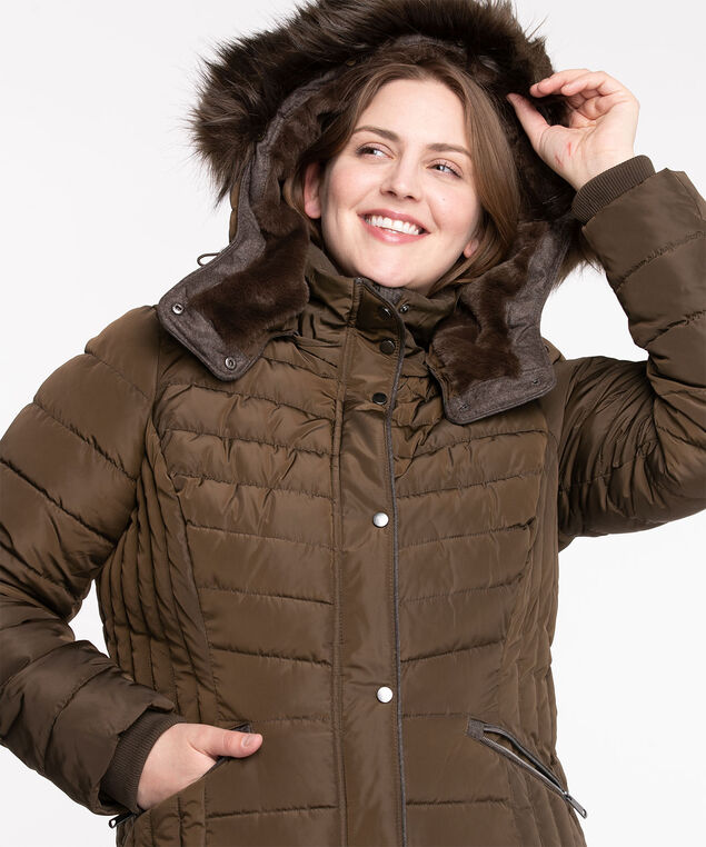 Thermolite® EcoMade Ribbed Puffer, Chocolate