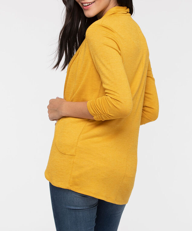 Shawl Collar Cardigan, Mustard, hi-res