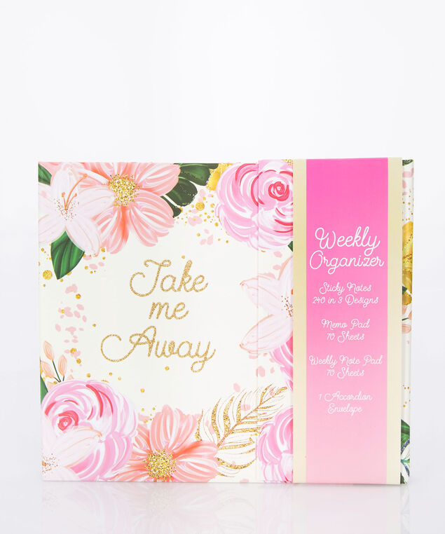 Take Me Away Weekly Organizer, Cameo Pink/Fuzzy Peach/Gold, hi-res