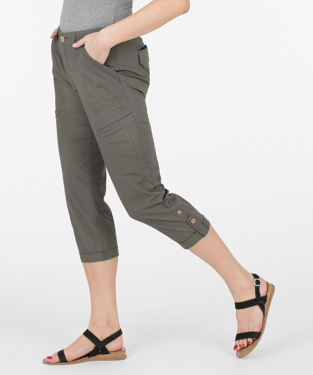 Democracy Flex'ellent Utility Crop Pant, Jade, hi-res