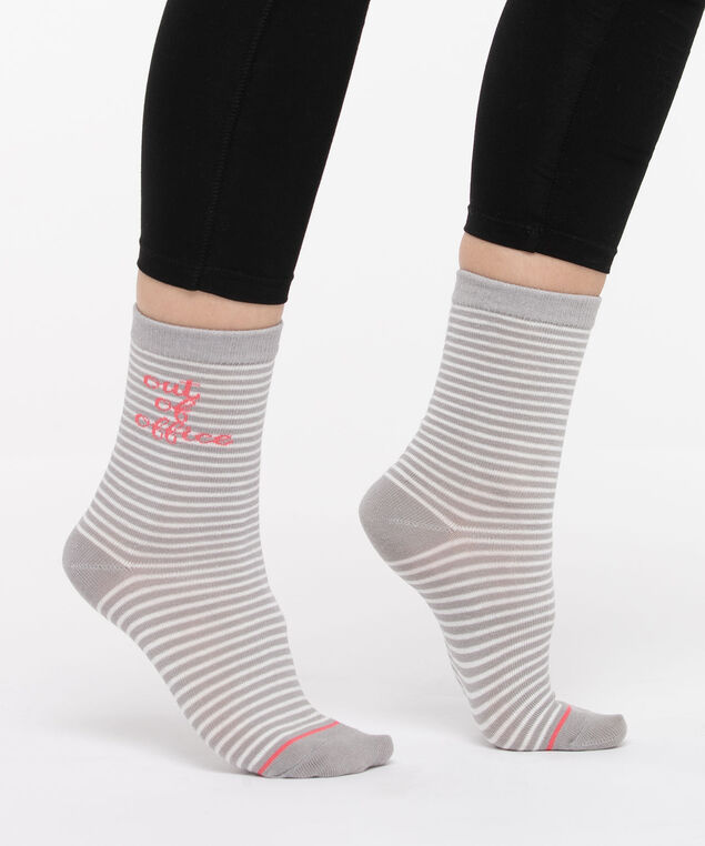 Out of Office Socks, Pearl/Grey/Strawberry, hi-res