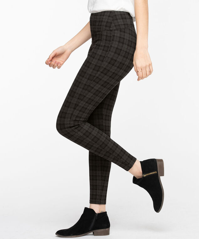 Luxe Ponte Instant Smooth Legging, Grey Plaid