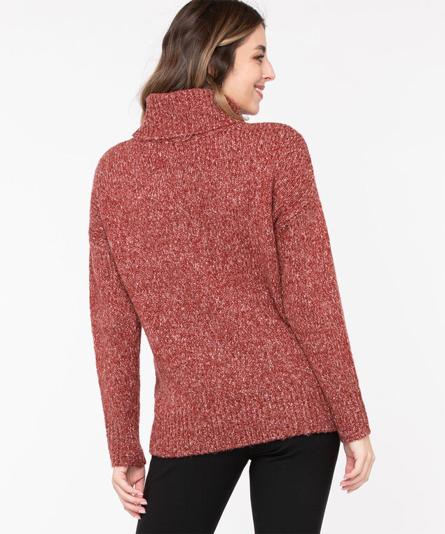 Eco-Friendly Cable Knit Sweater, Chili Pepper Mix