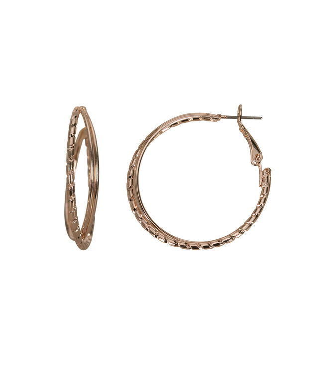 Intertwined Hoop Earring, Soft Rose Gold, hi-res