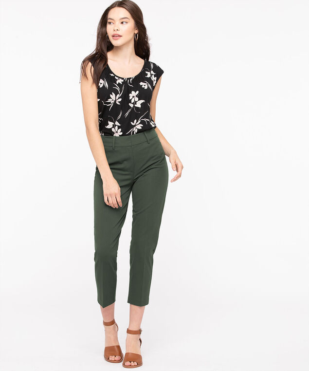 High Rise Slim Ankle Pant, Fern, hi-res