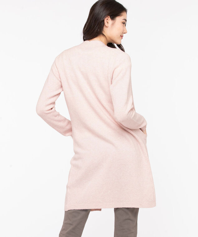 Soft Open Front Duster Cardigan, Rose Smoke