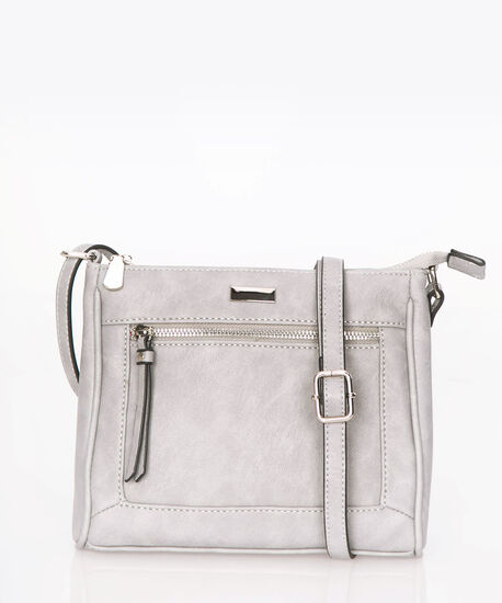 Small Crossbody Satchel, Light Heather Grey, hi-res