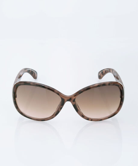 Tortoise Print Sunglasses, Brown/Black, hi-res