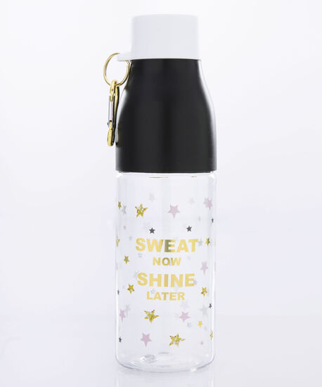 Sweat Now Water Bottle, Black/Gold, hi-res