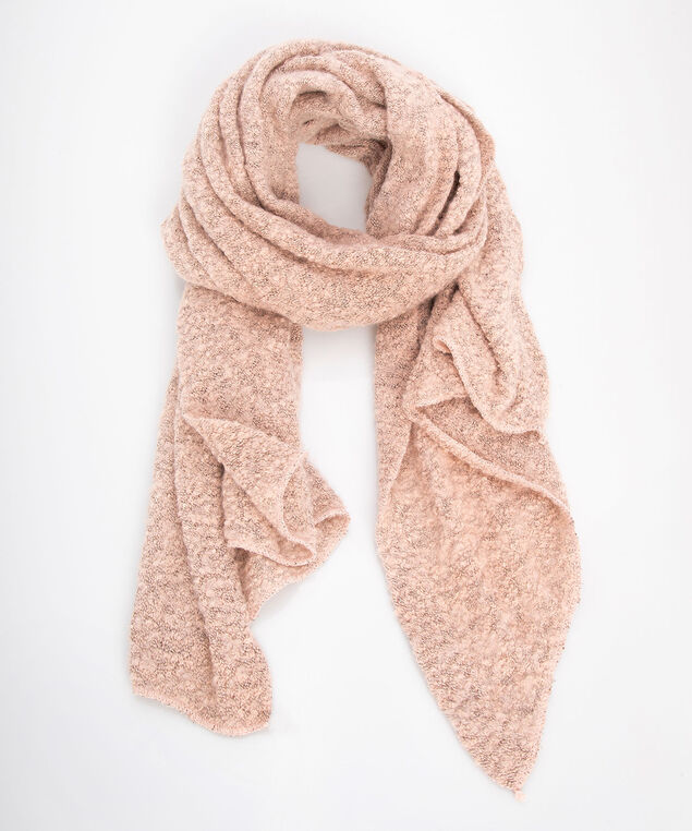 Novelty Yarn Oblong Scarf, Dusty Blush, hi-res