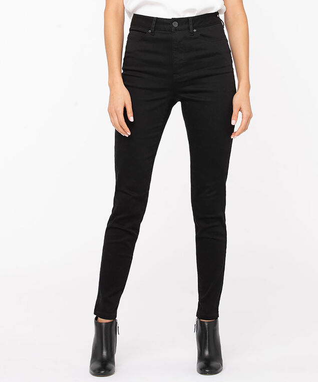 Black High Rise Skinny Leg, Black