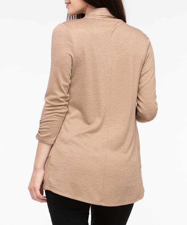 Shawl Collar Cardigan, Camel, hi-res