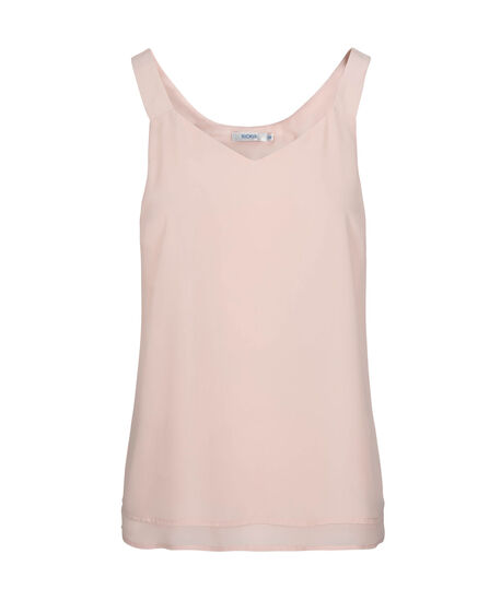 Layered Sleeveless Blouse, Pastel Pink, hi-res