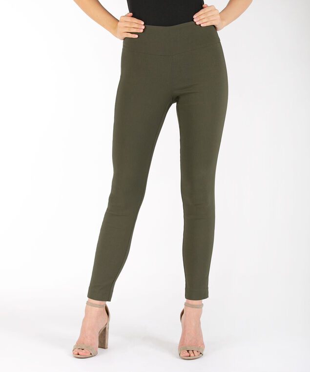 Microtwill High Rise Ankle Pant, Olive, hi-res