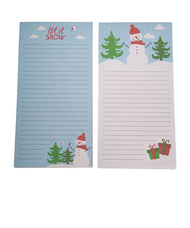Let It Snow! Notepad Set, Blue/White/Red, hi-res