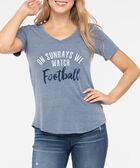 Sunday Football Graphic Tee, Steel Blue, hi-res