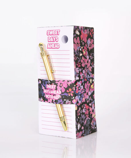Memo Block Pad Set, Black/Pink, hi-res