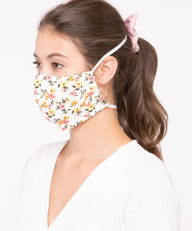 2 Pack of Face Masks, Black/Orange/Blue/White/Lemon/Pink, hi-res