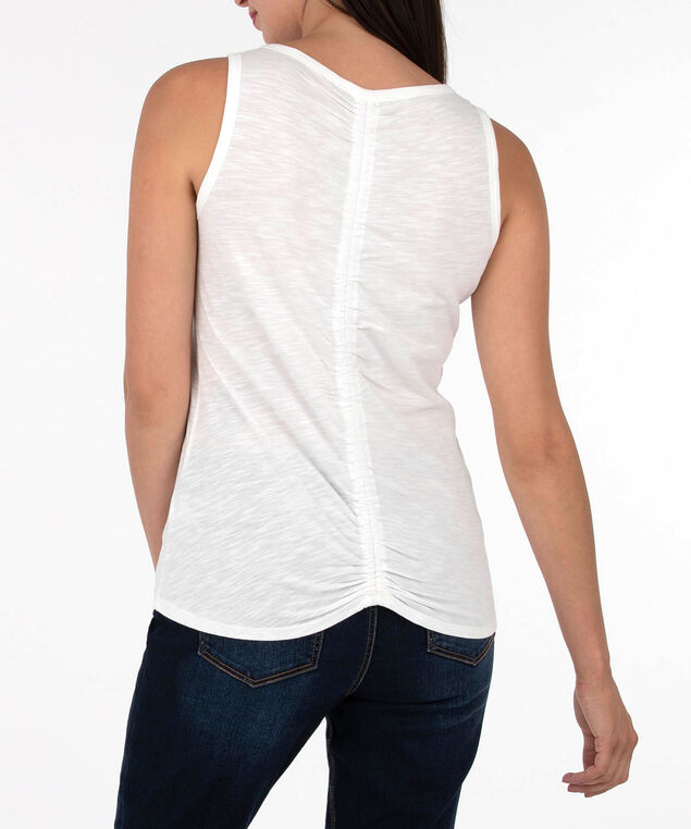 2cbeb17f4ac619 Sleeveless Embroidered Knit Top, Ivory, ...