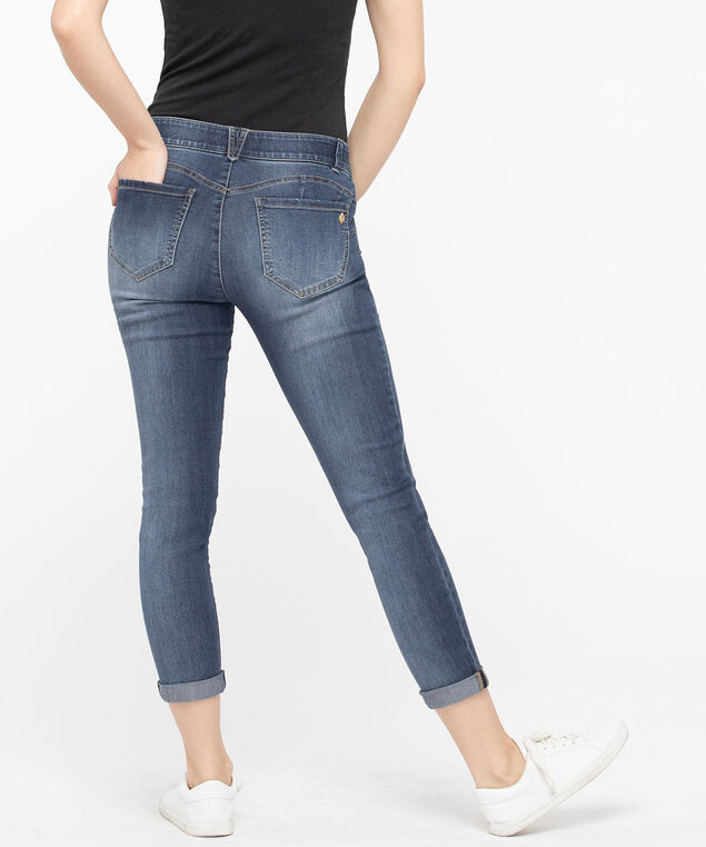 Democracy Rolled Cuff Ankle Skimmer Jean, Mid Wash, hi-res