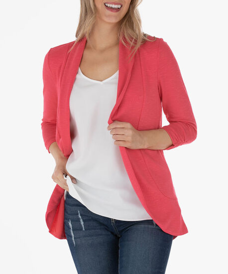 Shawl Collar Cardigan, Watermelon, hi-res