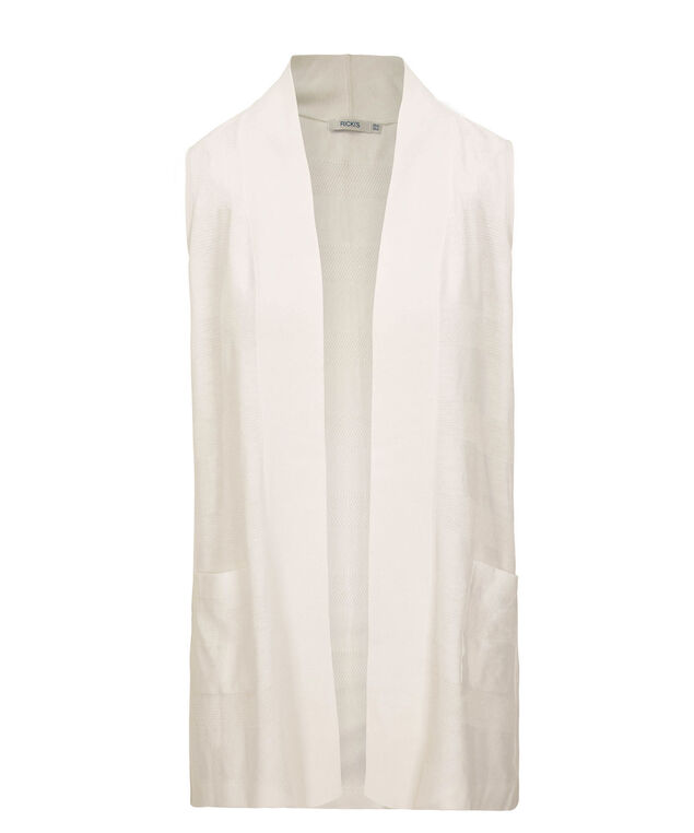 Open Sweater Vest, True White, hi-res