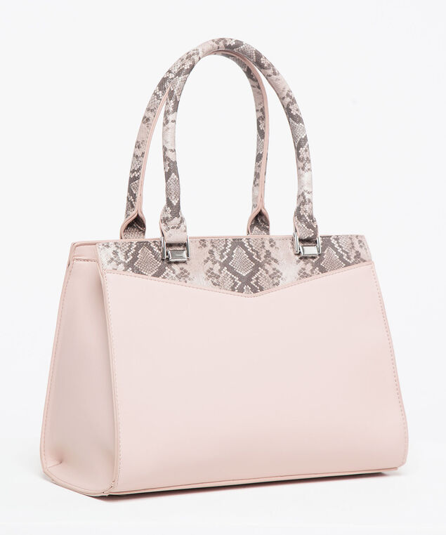Python Blocked East West Bag, Rose Petal/Praline/Rhodium, hi-res