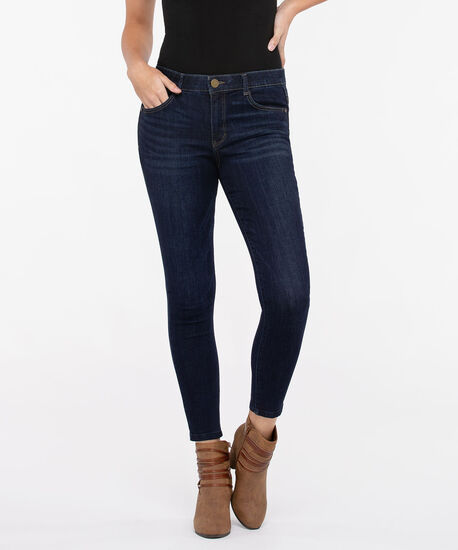 "Democracy ""AB""solution High Rise Ankle Jean, Dark Rinse, hi-res"