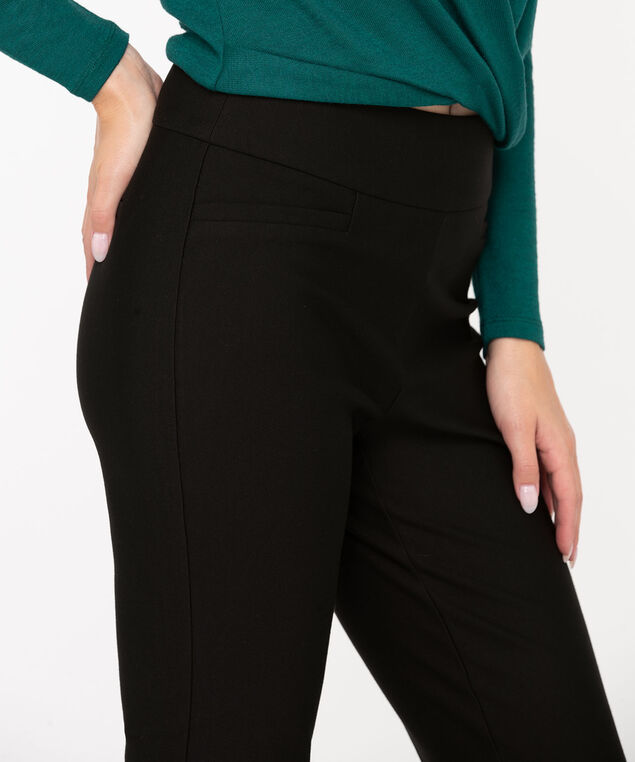 Luxe Ponte Bootcut Pant, Black