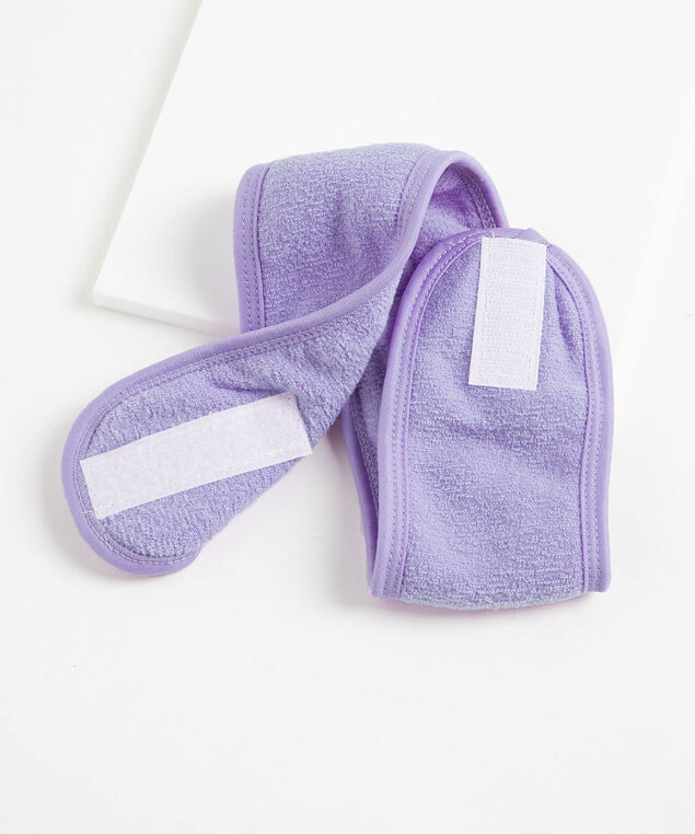 French Terry After Shower Headband, Purple