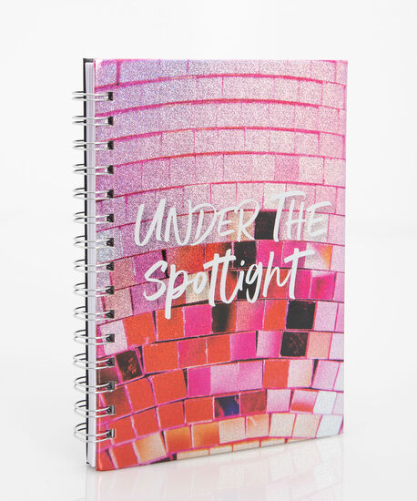 Under the Spotlight Spiral Notebook, Bright Pink/Pearl/Crimson, hi-res