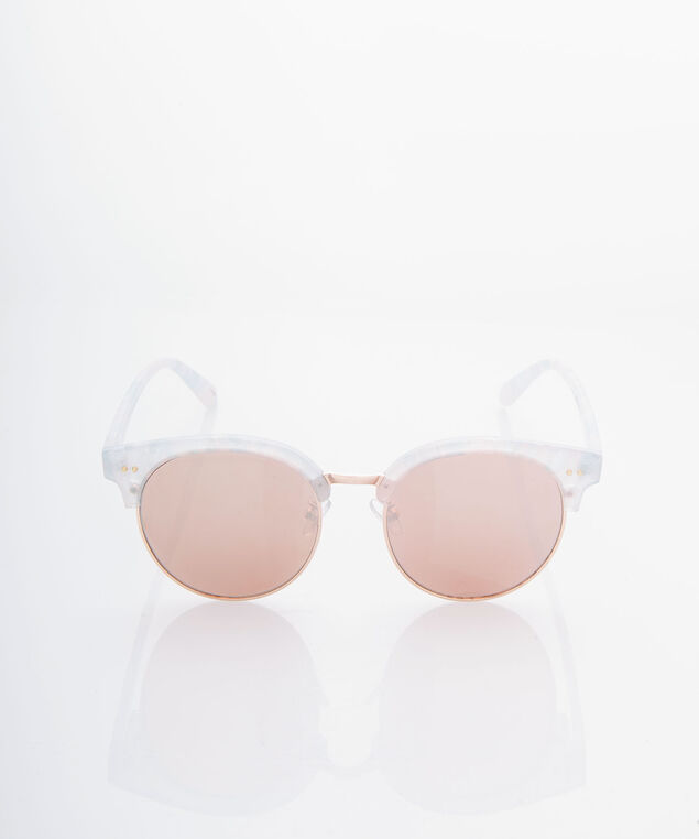 Opalescent Frame Wayfarer Sunglasses, Pearl/Rose Gold, hi-res