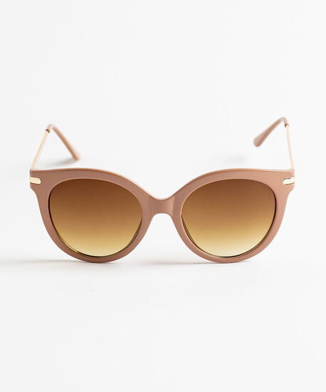 Oversized Taupe Sunglasses, Taupe, hi-res