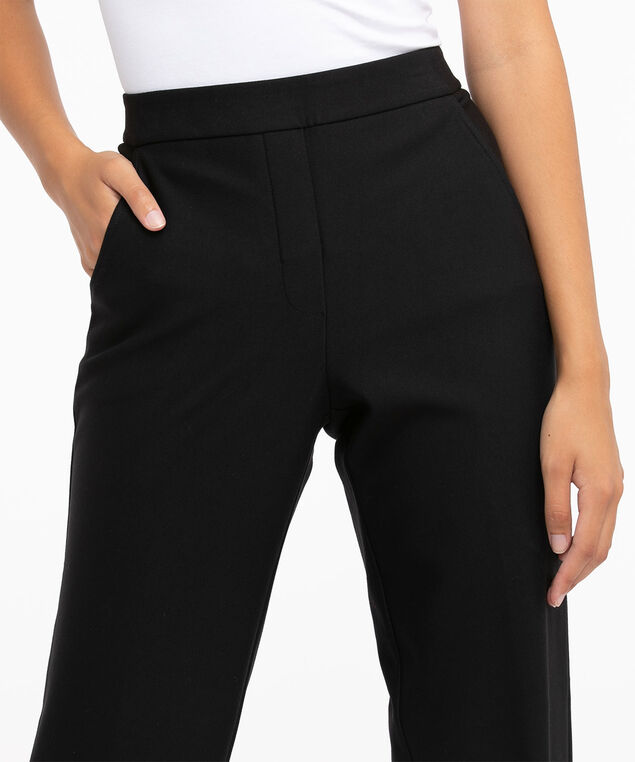 Luxe Ponte Pull On Trouser, Black