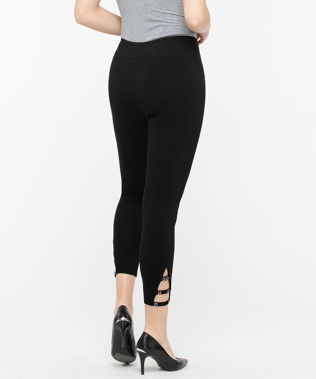Luxe Ponte Ladder Crop Pant, Black, hi-res