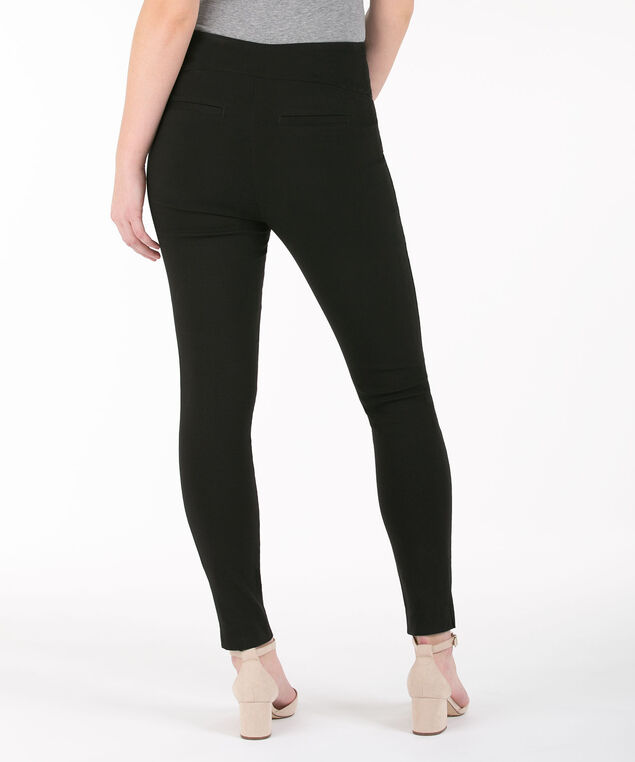 Microtwill High Rise Ankle Pant, Black, hi-res