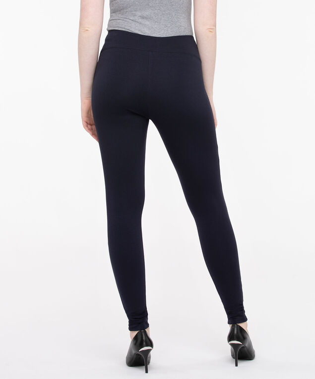 Luxe Ponte Navy Blue Legging, Navy, hi-res