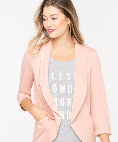 Terry Shawl Collar Cover Up, Soft Blush, hi-res