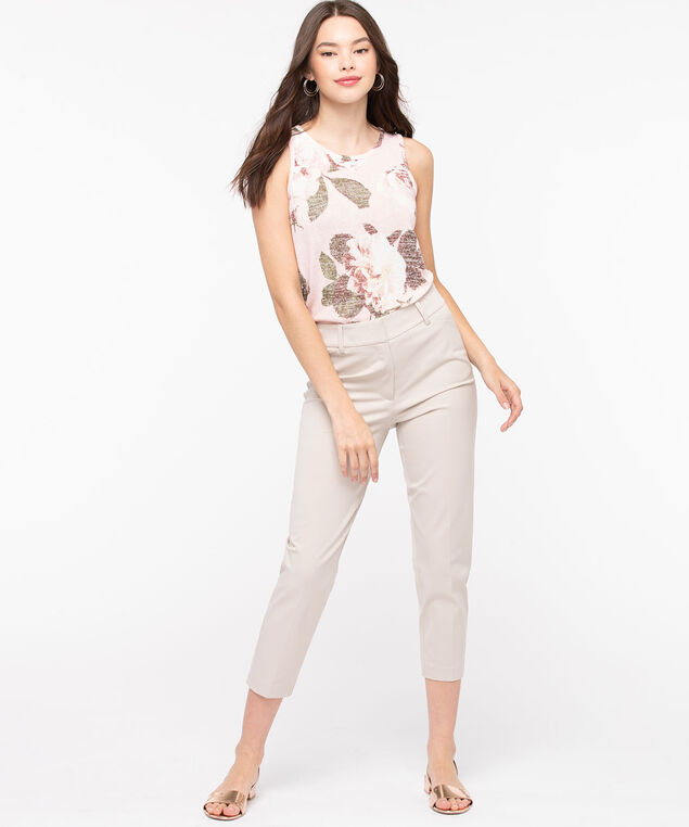 High Rise Slim Ankle Pant, Sand