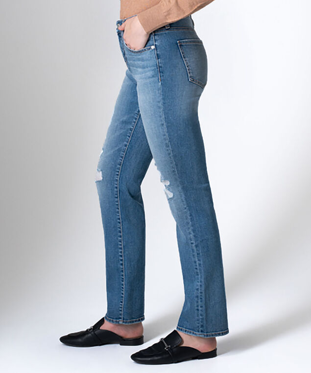 Ruby Mid Rise Straight Leg Jeans, New Orleans