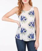 Sleeveless Open Bow Back Blouse, Pearl/Ink Blue, hi-res