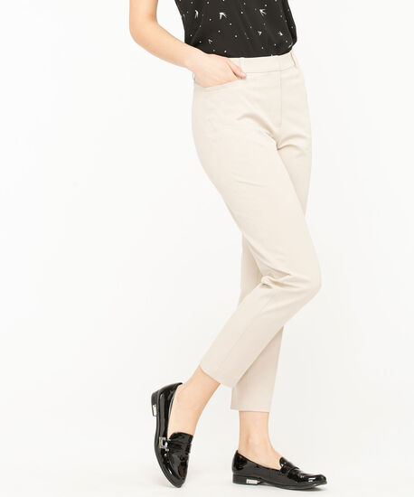 High Rise Slim Ankle Pant, Sand, hi-res
