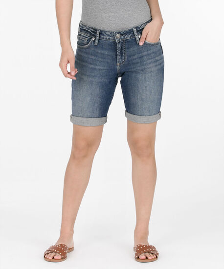 Silver Jeans Co. Elyse Bermuda Short, Mid Wash, hi-res