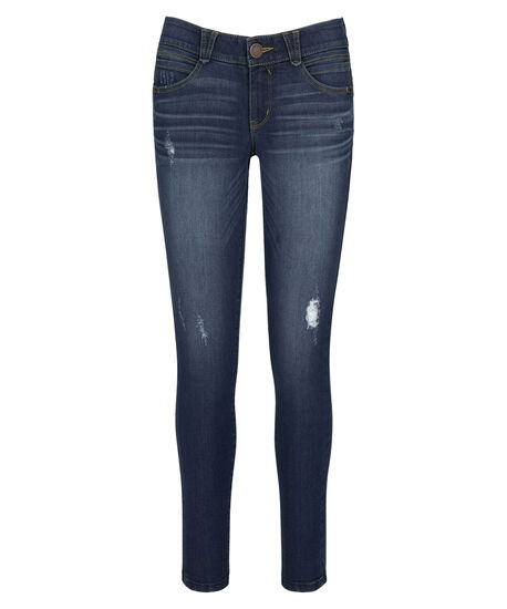 "Democracy ""Ab""solution Distressed Jegging, Mid Wash, hi-res"